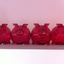Pink shelf piggies