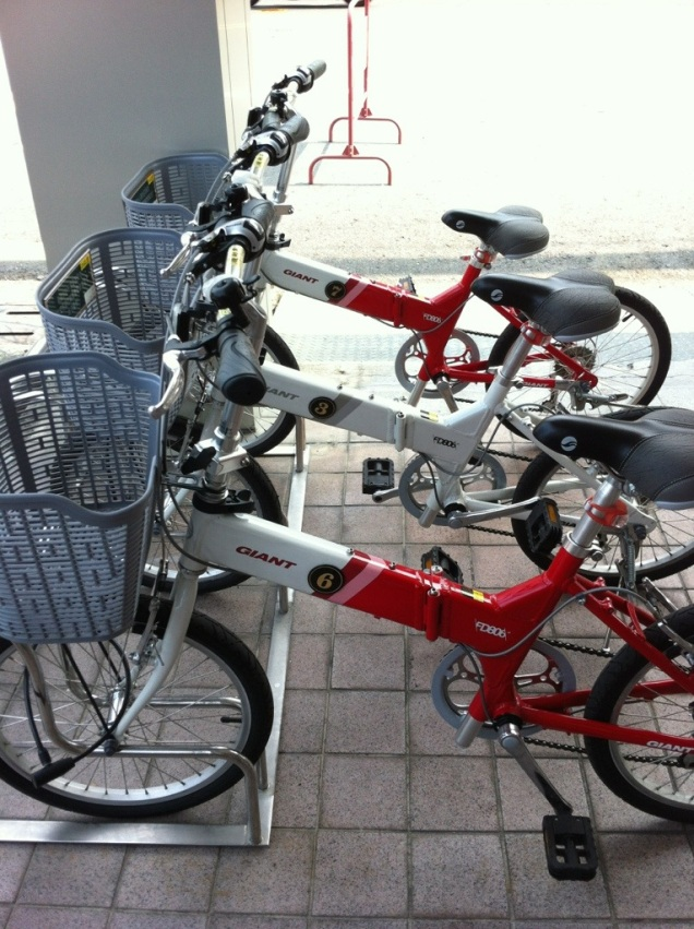 Fold-Up Giant Bikes! Don't see these much outside Asia