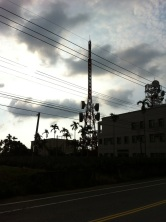 We must be at the top: radio masts galore.
