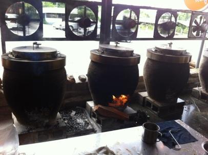 Huge fire kiln-like ovens