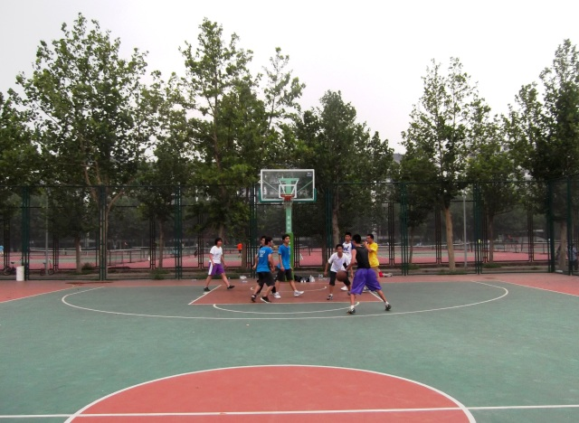 After-class Basketball - these guys are awesome!