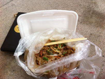 Lunchtime Noodle Take-Away Fudan University Street Food