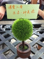 Cute and Polite! Cafe table notice, Suzhou, China