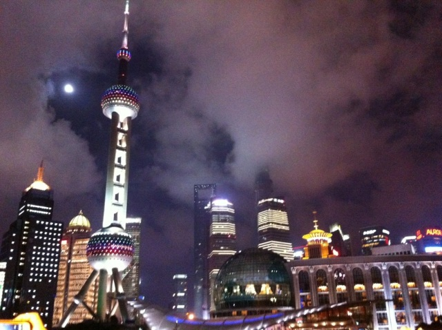 Shanghai Night Skyline Pudong PuXi The Bund