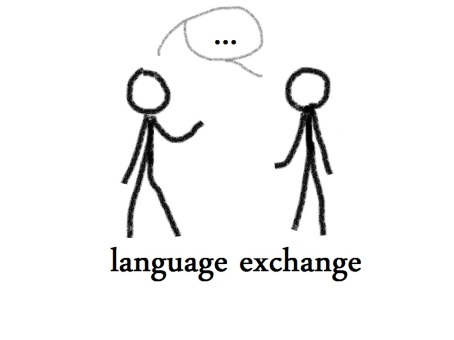 language exchange illustration
