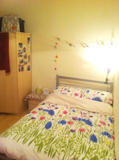 Flowery bedcover