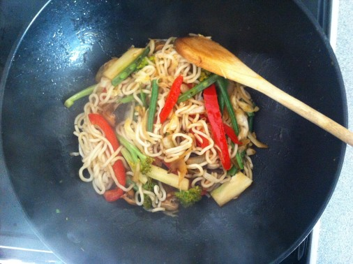 stir fry - cooking